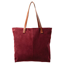 Buy East Suede Tote Bag, Henna Online at johnlewis.com