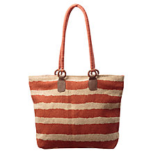 Buy East Stripe Print Jute Bag, Henna Online at johnlewis.com
