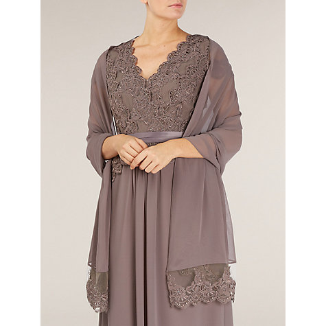 Buy Jacques Vert Embellished Shawl, Brown Online at johnlewis.com
