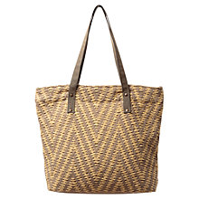 Buy East Woven Zig Zag Shopper, Bamboo Online at johnlewis.com