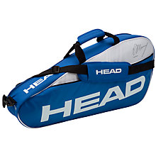 Buy Head Murray Team Pro Racket Bag, Blue/White Online at johnlewis.com