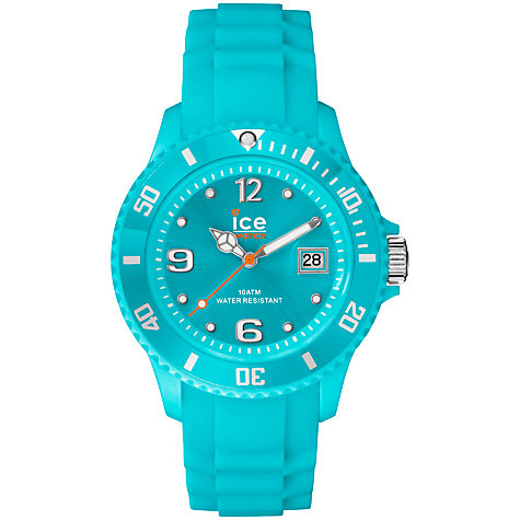 Buy Ice-Watch SI.TE.U.S.13 Unisex Forever Silicone Strap Watch, Turquoise Online at johnlewis.com