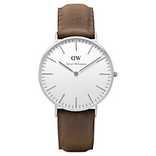 Buy Daniel Wellington Women's Vintage Leather Strap Watch Online at johnlewis.com