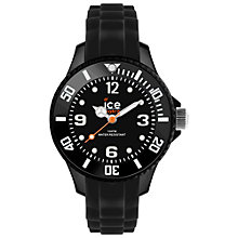 Buy Ice-Watch SI.BK.M.S.13 Women's Ice-Forever Mini Silicone Bracelet Strap Watch, Black Online at johnlewis.com