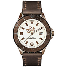 Buy Ice-Watch VT.BN.BB.L.13 Men's Vintage Large Leather Strap Watch, Brown Online at johnlewis.com