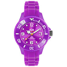 Buy Ice-Watch SI.PE.M.S.13 Ice-Forever Women's Mini Silicone Bracelet Strap Watch, Purple Online at johnlewis.com