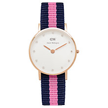 Buy Daniel Wellington Women's Classy Rose Gold PVD Nato Strap Watch Online at johnlewis.com