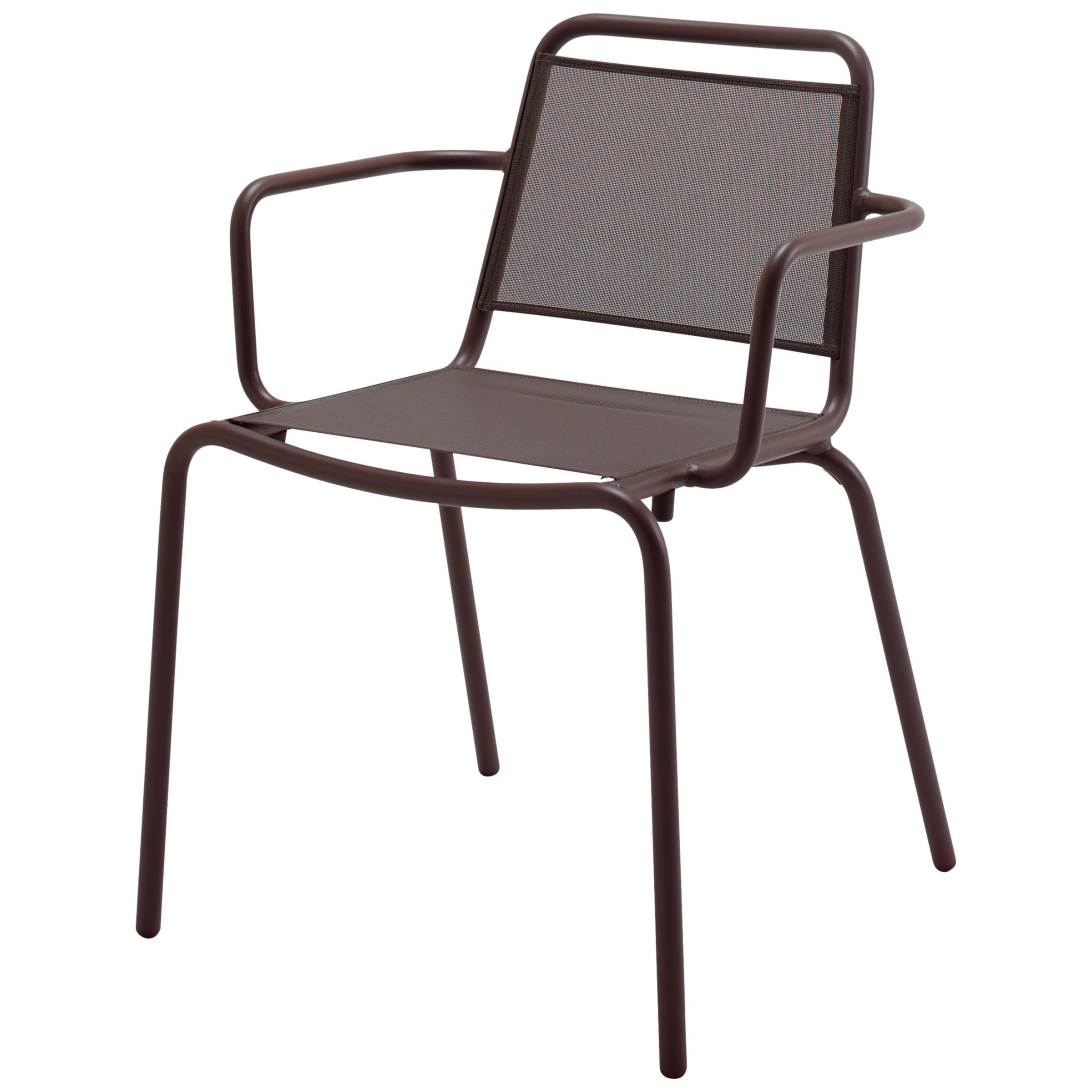 Gloster Nomad Sling Stacking Chair with Arms, Taupe
