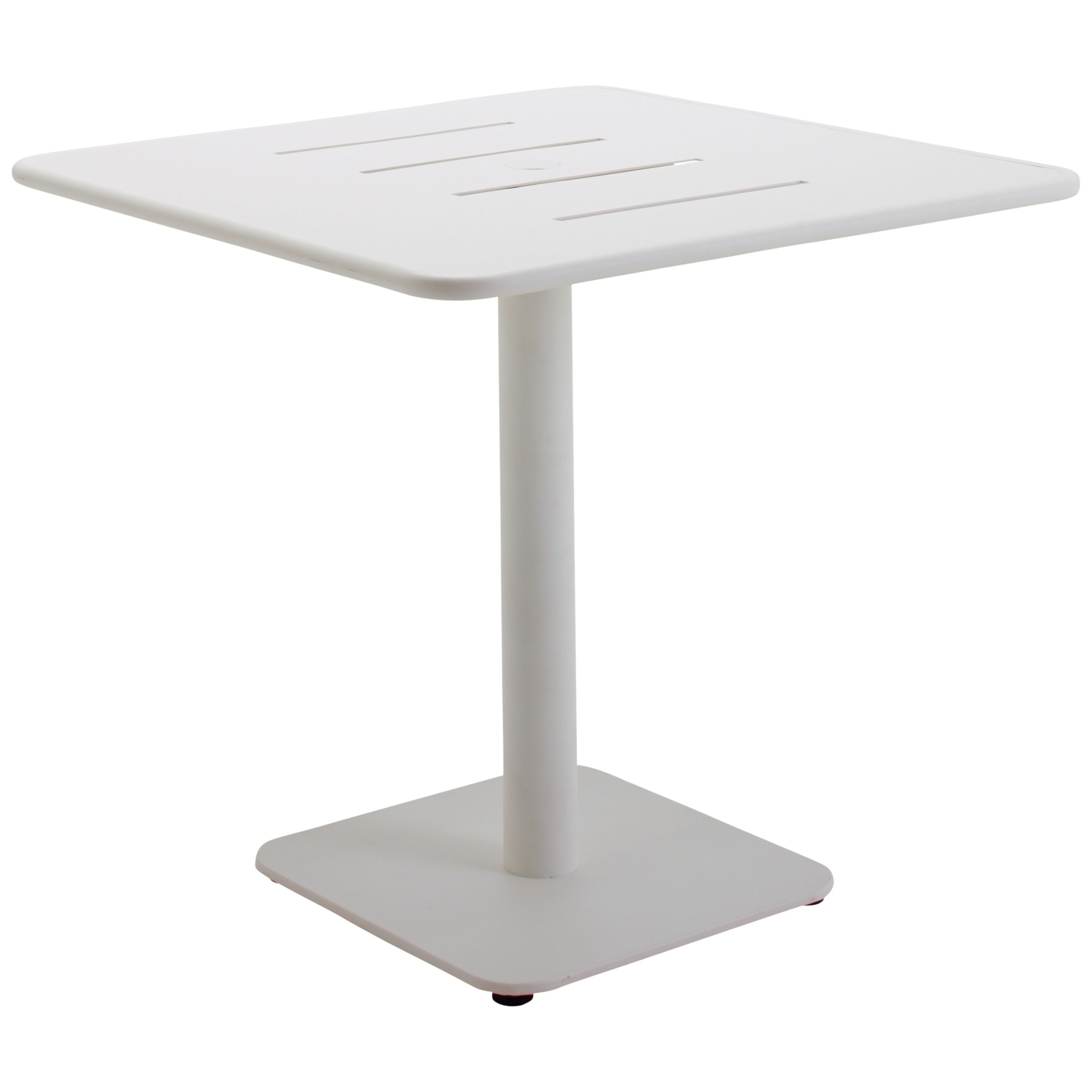 Gloster Nomad Square 90cm Pedestal Dining Table, White