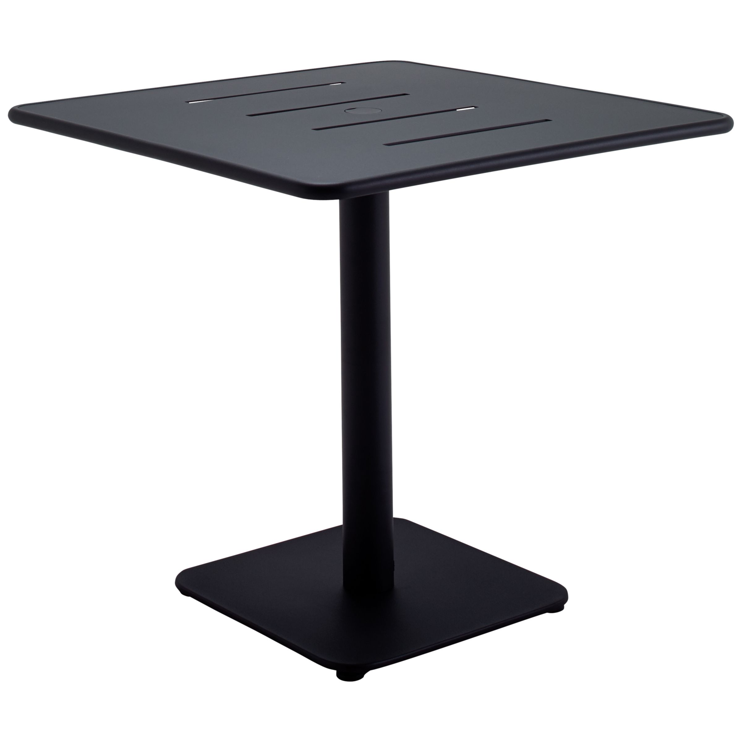 Gloster Nomad Square 80cm Pedestal Dining Table, Black