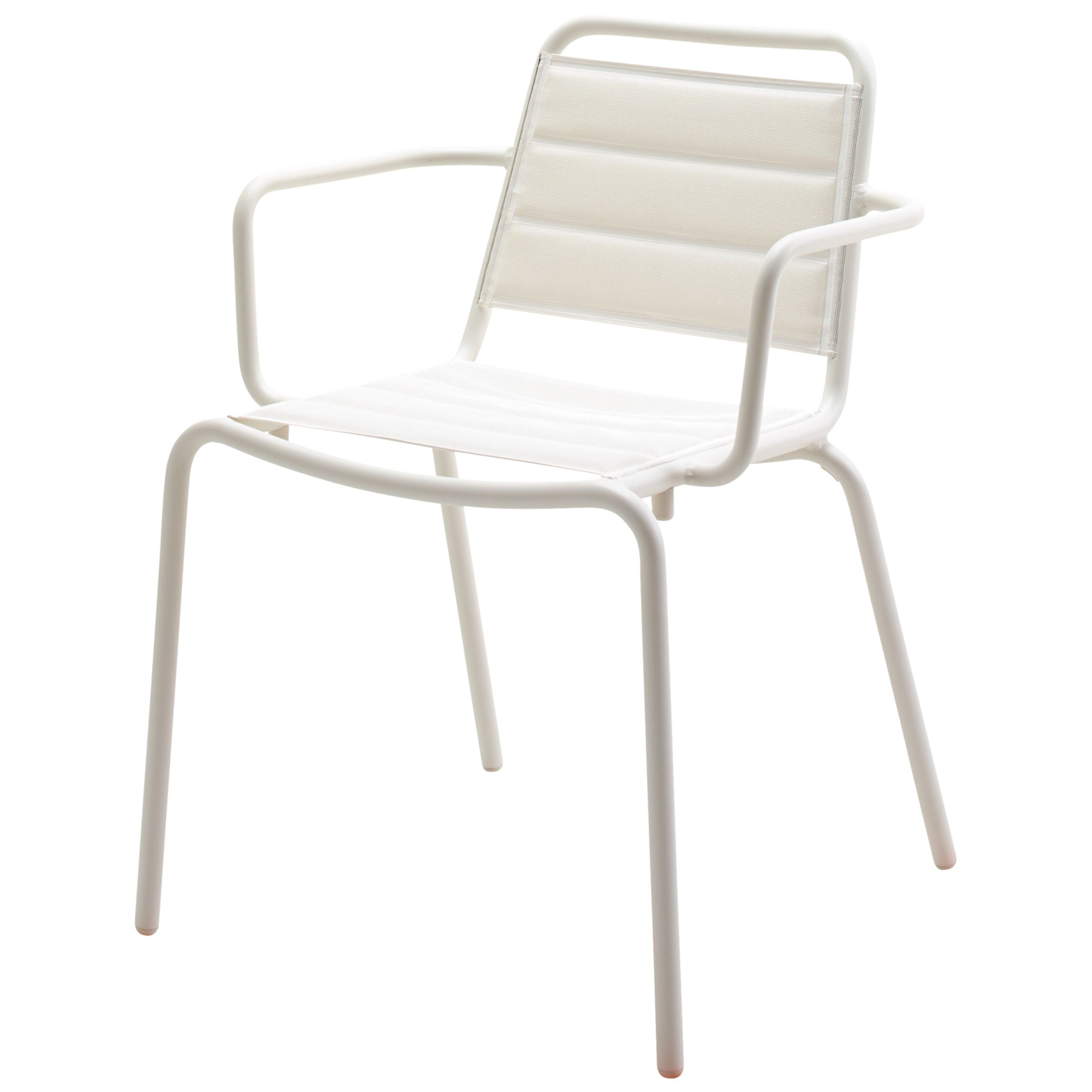 Gloster Nomad Padded Sling Stacking Armchair, White