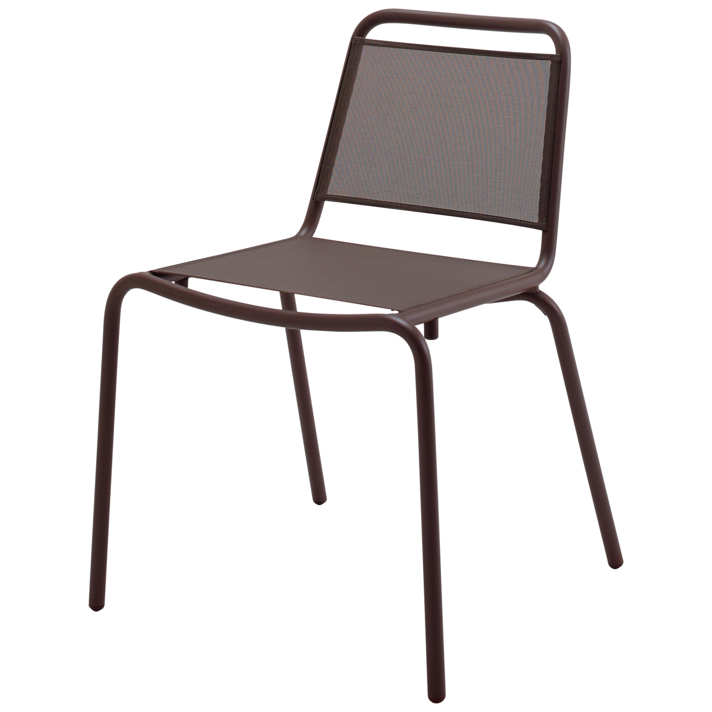 Gloster Nomad Sling Woven Stacking Chair, Taupe