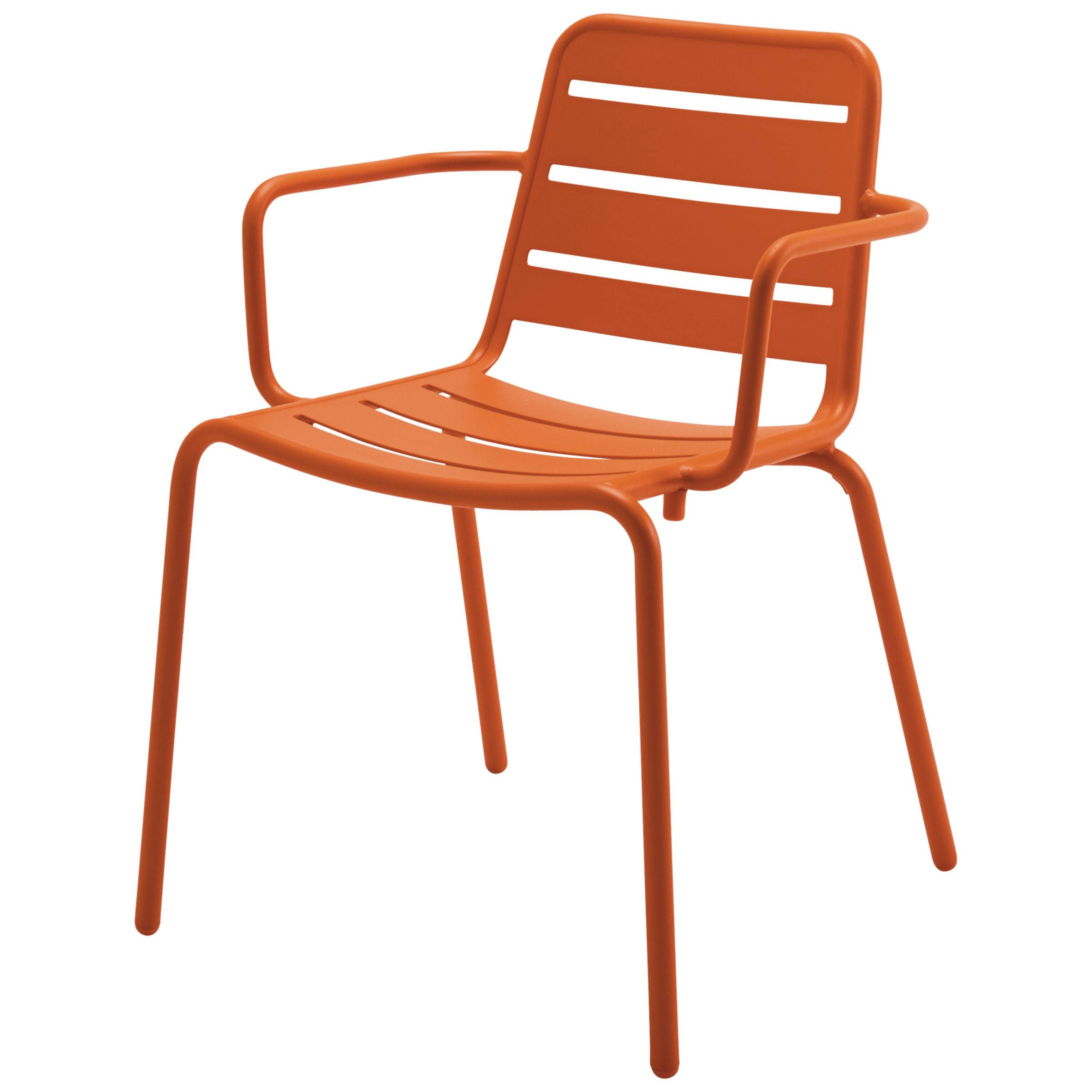 Gloster Nomad Stacking Chair with Arms, Flame