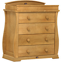 Buy Boori Sleigh 4 Drawer Chest, Heritage Teak Online at johnlewis.com