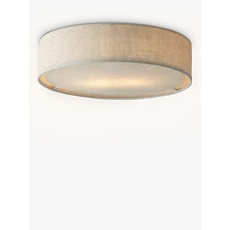 Buy John Lewis Samantha Linen Flush Ceiling Light John Lewis