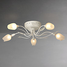 Buy John Lewis Oria Semi-flush Ceiling Light, 5 Arm, White Online at johnlewis.com