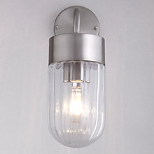 Buy John Lewis Kellman Ribbed Glass Outdoor Wall Light Online at johnlewis.com