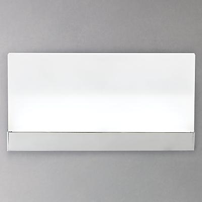 John Lewis Teppo LED Glass Wash Wall Light, Opal
