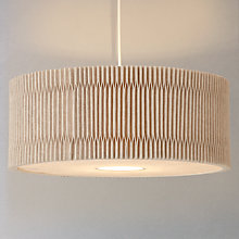 Buy John Lewis Croft Collection Easy-to-fit Dale Pleated Ceiling Shade, Natural Online at johnlewis.com