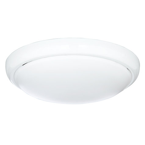 Buy Saxby Della LED Flush Ceiling Light, White Online at johnlewis.com