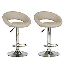 Buy John Lewis Oliver Bar Stools, Set of 2, Black Online at johnlewis.com