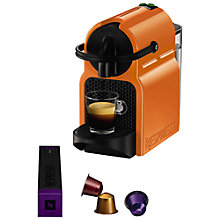 Buy Nespresso Inissia Coffee Machine by Magimix, Orange Online at johnlewis.com