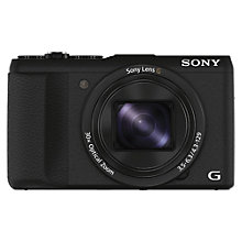 "Buy Sony DSC-HX60 Camera, HD 1080p, 20.4MP, 30x Optical Zoom, Wi-Fi, NFC, 3"" LCD Screen Online at johnlewis.com"