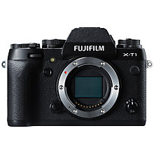 "Buy Fujifilm X-T1 Compact System Camera, HD 1080p, 16.3MP, Wi-Fi, OLED EVF, 3"" LCD Screen, Body Only Online at johnlewis.com"
