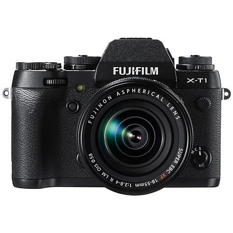 Buy Fujifilm X-T1 Compact System Camera with 18-55mm XF Lens, HD 1080p, 16.3MP, Wi-Fi, OLED EVF, 3 LCD Screen Online at johnlewis.com