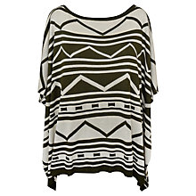 Buy Paisie Aztec Knitted Poncho, Green Online at johnlewis.com