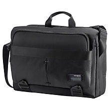 "Buy Samsonite CityVibe 16"" Laptop Messenger Bag, Black Online at johnlewis.com"