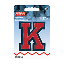 Buy Prym Embroidered Iron-On Initial Patch, Red/Blue Online at johnlewis.com