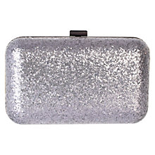 Buy Coast Georgie Glitter Clutch Bag, Gun Metal Online at johnlewis.com