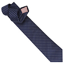 Buy Thomas Pink Axbridge Spot Woven Tie, Navy Online at johnlewis.com