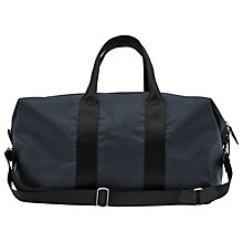 Buy Reiss Channing Textured 48 Hour Holdall, Blue Online at johnlewis.com