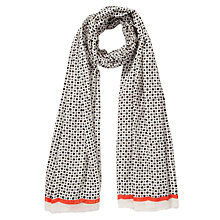 Buy Becksöndergaard Tammi Cotton Scarf, Black Online at johnlewis.com