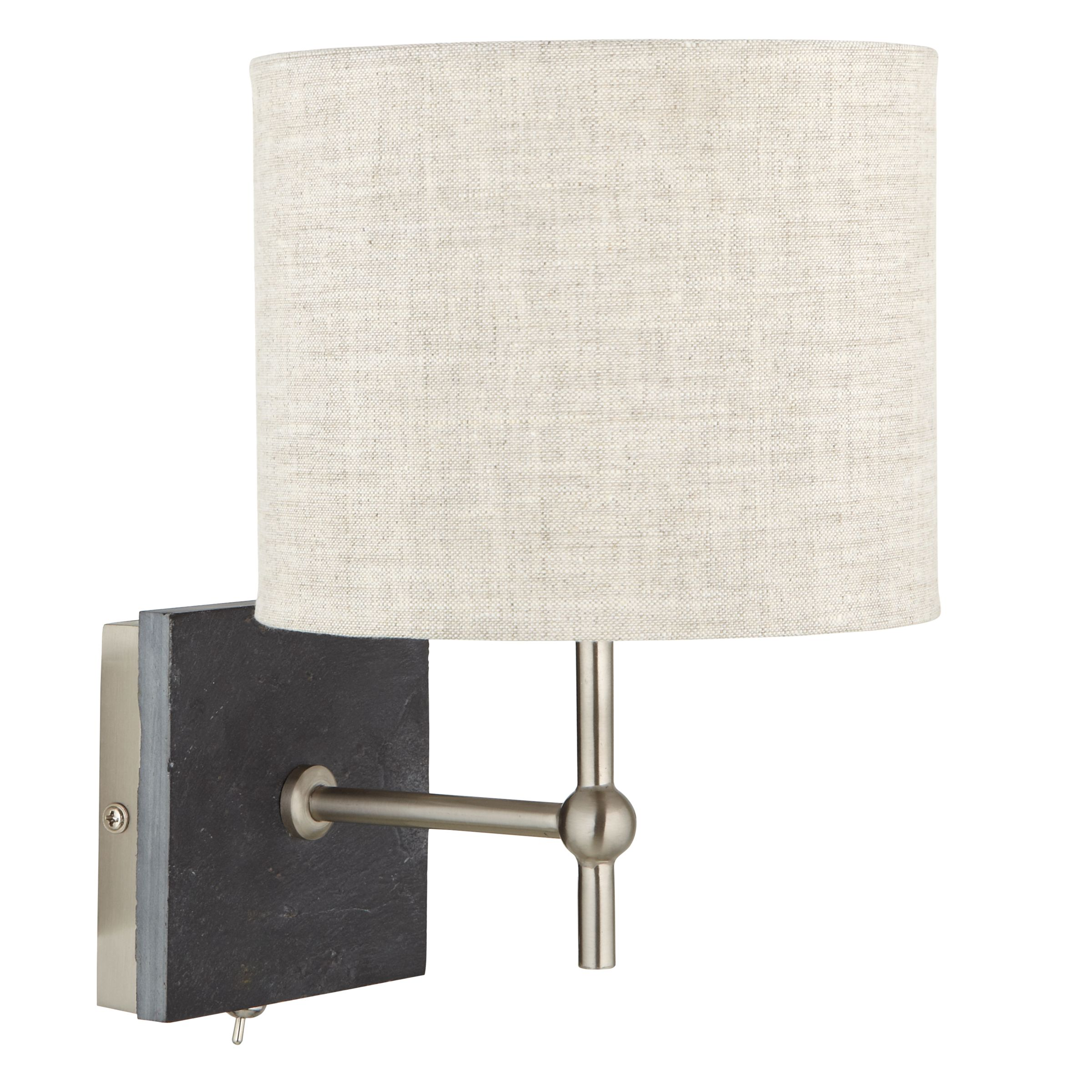 Wall Mounted Lamps John Lewis : Buy John Lewis Jack Wall Light, Slate John Lewis