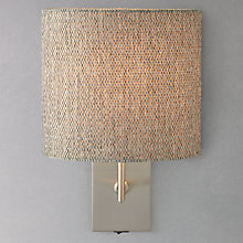 Buy John Lewis Lorenzo Textured Shade Wall Light Online at johnlewis.com