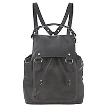 Buy Mint Velvet Cara Leather Backpack, Grey Online at johnlewis.com