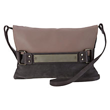 Buy Mint Velvet Emily Leather Clutch Handbag, Mink / Grey Online at johnlewis.com