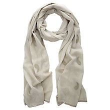 Buy Mint Velvet Paisley Scarf, Vanilla Online at johnlewis.com
