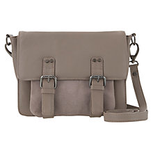 Buy Mint Velvet Sienna Leather Satchel, Mink Online at johnlewis.com