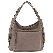 Buy Mint Velvet Paige Leather Hobo Handbag, Mink Online at johnlewis.com