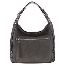 Buy Mint Velvet Paige Leather Hobo Handbag, Grey Online at johnlewis.com