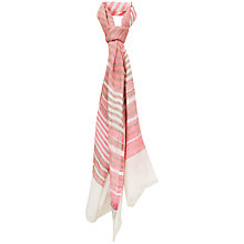 Buy Havren Striped Summer Scarf, Pink Online at johnlewis.com