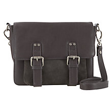 Buy Mint Velvet Sienna Leather Satchel, Grey Online at johnlewis.com