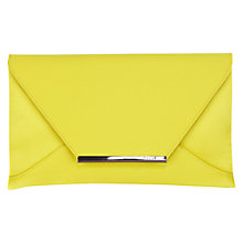 Buy Coast Envelope Clutch, Chartreuse Online at johnlewis.com