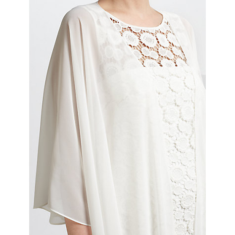 Buy Gina Bacconi Chiffon Shawl, Light Chalk Online at johnlewis.com