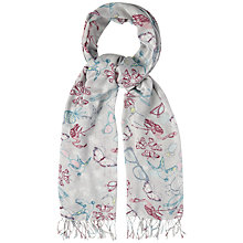 Buy White Stuff Mirrored 50's Printed Scarf, Grey Online at johnlewis.com