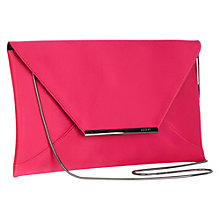 Buy Coast Envelope Clutch, Fuchsia Online at johnlewis.com